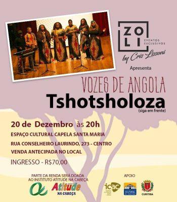 Show Vozes de Angola ilumina a Capela Santa Maria